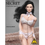 "Flirty Girl Collectibles Secret 1/6 Scale 12"" Female Lingerie Set Color A White ColorA"