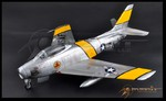 JSI 1/18 Scale USAF F-86F SABRE JET, MAJ J. JABARA 1953 Pre-Assembled JSI-60022 JSI-60022