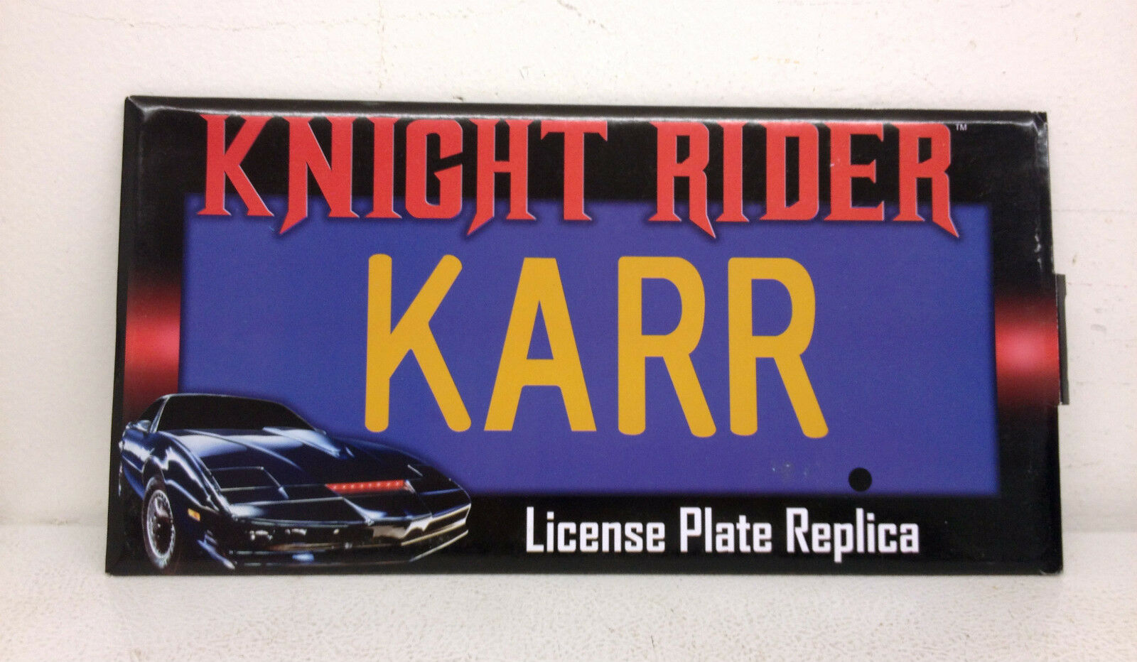 2012 Diamond Select Knight Rider Karr License Plate Replica KR22820LP