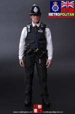 """Modeling Toys 1/6 Scale 12"""" British Metropolitan Police Service Figure MMS-9001 MMS9001"""