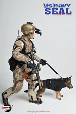 """Playhouse 1/6 Scale 12"""" US Navy Seal Team Six Action Figure with Dog PH-005 PH-005"""