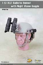 "Toys City 1/6 Scale 12"" Ballistic Helmet with Night Vision Goggles Tan 62004C 62004C"