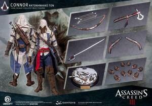 "DAM Toys 1/6 Scale 12"" Assassin's Creed III Connor Action Figure DSM010 New DMS010"