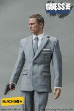 "Black Box Toys 1/6 Scale 12"" Guess Me Series Spectre 007 Action Figure Grey Suit BB-9002B"