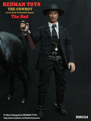"Redman Toys ""The Good The Bad and the Ugly"" The Bad 1/6 Scale 12"" Figure RM-043 RM-043"