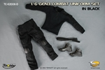 "Toys City 1/6 Scale Combat Uniform Set Black for 12"" Action Figures 62006D 62006D"