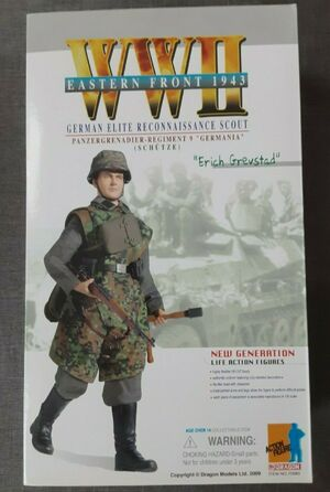 "1/6 Scale 12"" WWII Erich Grevstad Action Figure Dark Camo Version 70685 70685"