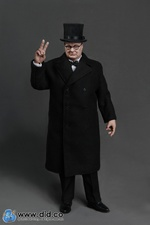 "DID 1/6 Scale 12"" WWII British Winston Churchill Action Figure K80090 K80090"