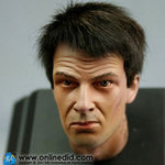 "DID 1/6 Scale 12"" Ultimate Realistic Head with Black Hair D60 H30002 D60"