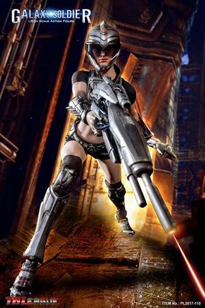 "Phicen TBLeague 1/6 Scale 12"" Female Galaxy Soldier Action Figure PL2017-110 PL2017-110"