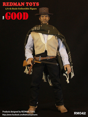 "Redman Toys ""The Good The Bad and the Ugly"" The Good 1/6 Scale 12"" Figure RM-042 Rm042"