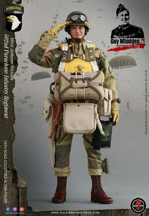 """1/6 12"""" WWII US 101st Airborne Division 502 Guy Whidden II SS-110 SS-110"""