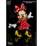 "HEROCROSS Disney's Minnie Mouse Hybrid Metal Figuration 5.5"" Tall Action Figure H02"