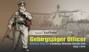 "Dragon 1/6 Scale 12"" WWII German Soldier Lieutenant Officer Josef Paulus Action Figure 70854 70854"