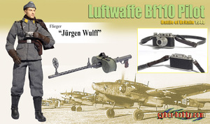 "Dragon 1/6 Scale 12"" WWII German Flieger ""Jurgen Wulff"", Luftwaffe Bf110 Pilot, Battle of Britain Action Figure 70791 70791"