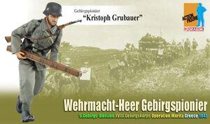"Dragon 1/6 Scale 12"" WWII German Wehrmacht-Heer Gebirgspionier Kristoph Grubauer Action Figure 70809 70809"