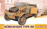 "Dragon 1/6 Scale 12"" WWII German Kubelwagen Model Kit 75003 75003"