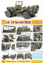 "Dragon 1/6 Scale 12"" WWII US Army 1/4 Ton 4x4 Truck Jeep Model Kit 75020 75020"