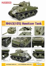 Dragon Models 1/6 Scale WWII US M4A3 Sherman 105mm Howitzer Tank Kit 75046 75046