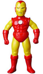 "Medicom Marvel Retro Sofubi Collection 10"" Soft Vinyl Iron Man Action Figure 4530956468990"