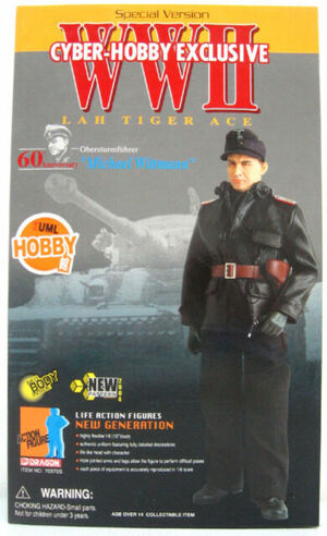 "Dragon Cyber Hobby 1/6 Scale 12"" WWII German Tiger Ace Michael Wittmann Action Figure 70370S 70370S"