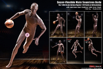 "Phicen 1/6 Scale 12"" Super Flexible Male Seamless Action Figure Body PL-2018-M36B PL-2018-M36"