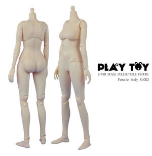 "Play Toy 1/6 Scale 12"" Female Caucasian Body B Cup Action Figure Doll PT-S002 PT-S002"