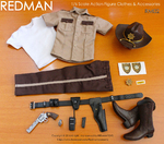 "2014 Redman 1/6 Scale Sheriff Police Uniform Set for 12"" Action Figure RM02 RM02"