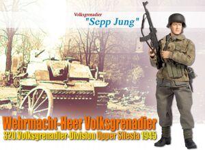 """1/6 Scale 12"""" """"Sepp Jung"""", Wehrmacht-Heer Volksgrenadier, 320.Volksgrenadier-Division, Upper Silesia 1945 (Volksgrenadier) 70485 70485"""