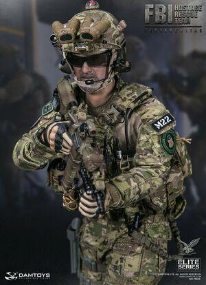 """1/6 Scale 12"""" Soldier FBI Hostage Rescue Team Servarevitas Agent Figure 78042"""