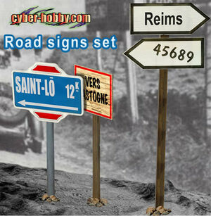 """1/6 Scale 12"""" WWII German Road Signs Set 1  71294 New 71294"""