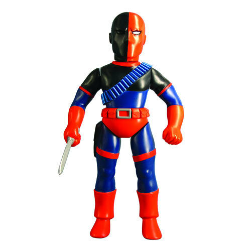 "Medicom 10"" DC Comics Retro Sofubi Collection Deathstroke Vinyl Action Figure 0089195714503"