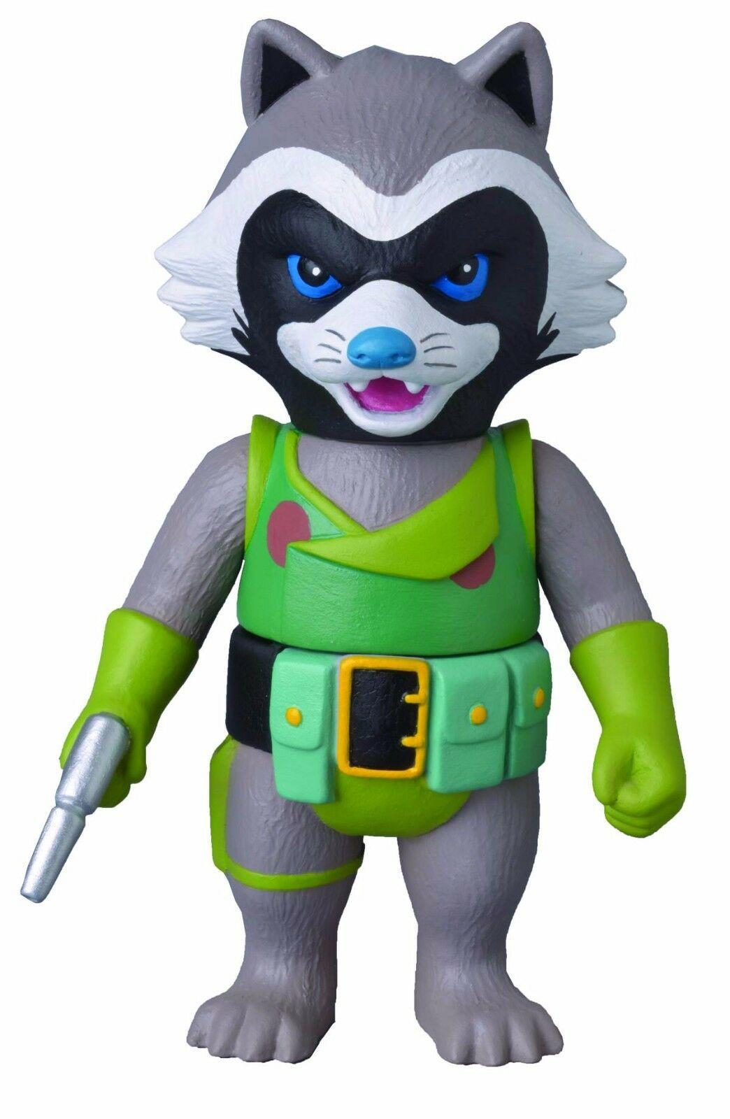Medicom Marvel Hero Sofubi Retro Rocket Racoon Previews Exclusive Action Figure 4530956531694