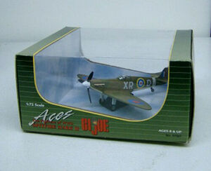 GI Joe Aces 1/72 scale Fighters of WWII Spitfire Mark II Diecast Airplane 57687