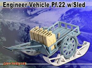 "1/6 scale 12"" WWII German Engineer Wagon Vehicle , Sled 71392 71392"
