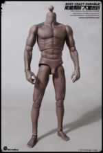 "World Box 1/6 Scale 12"" Articulated Male Body African American Black AT-005 WB-VT005"